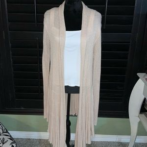 Torrid long cardigan knit duster with scallop trim